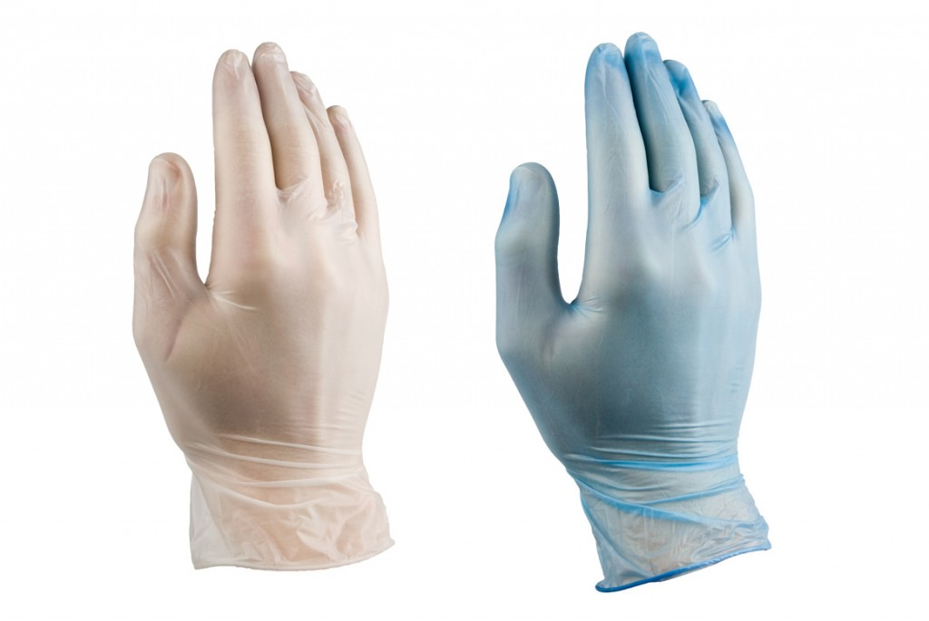Disposable-handschoen-vinyl-transparant-blauw